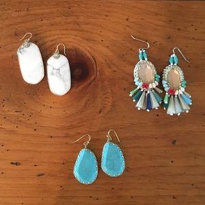 Earrings - 3 pairs